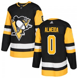 Youth Adidas Pittsburgh Penguins Justin Almeida Black Home Jersey - Authentic
