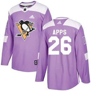 Men's Adidas Pittsburgh Penguins Syl Apps Purple Fights Cancer Practice Jersey - Authentic
