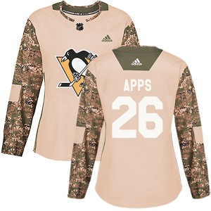 Women's Adidas Pittsburgh Penguins Syl Apps Camo Veterans Day Practice Jersey - Authentic