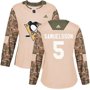 Women's Adidas Pittsburgh Penguins Ulf Samuelsson Camo Veterans Day Practice Jersey - Authentic