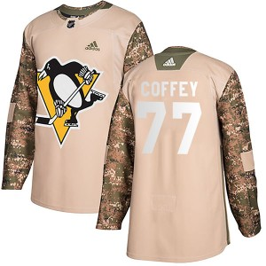 Youth Adidas Pittsburgh Penguins Paul Coffey Camo Veterans Day Practice Jersey - Authentic