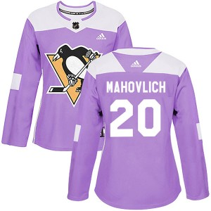 Women's Adidas Pittsburgh Penguins Peter Mahovlich Purple Fights Cancer Practice Jersey - Authentic